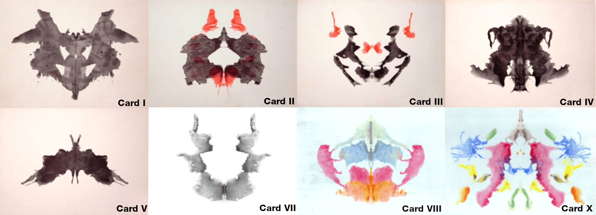 Inkblot cards